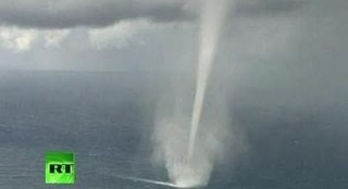 Waterspout Close-up Filmed In Austrailia