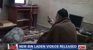 Osama Watching Himself on TV (CNN)