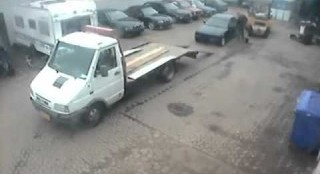 The Wrong Way To Load A Car On A Flatbed