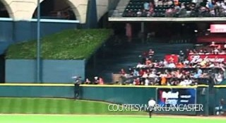 Astros Fan Hops Three Fences To Escape