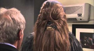 Harrison Ford Tells Chewie Off
