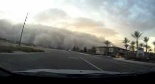 Driving Into Giant Phoenix Dust Storm